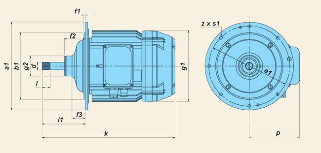 Электродвигатели серии КГЕ (КГ) (для канатных электроталей)