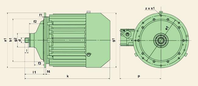 Электродвигатели серии КЕ – Ex (К)