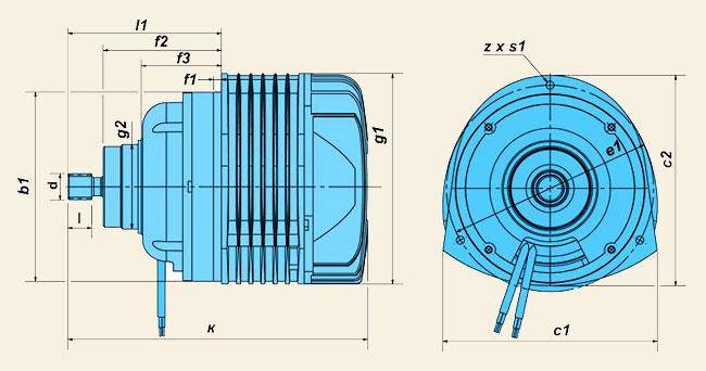 Электродвигатели серии КГЕ (для цепных электроталей)