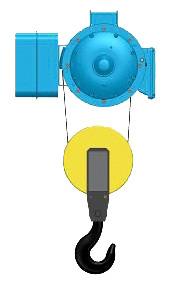 Серия Т02,T35- тельфер электрический канатный стационраный в исполненнии на пальцах