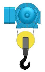 Серия Т01, T17 - тельфер электрический канатный стационраный в исполненнии на лапах