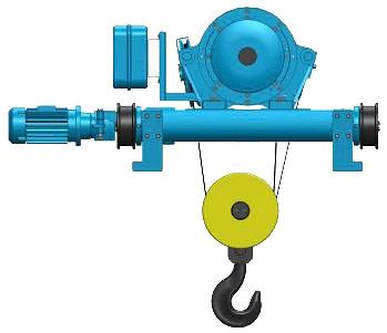 Серия Т81, T82 - тельфер электрический канатный передвижной в исполнении крановой тележки
