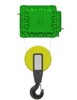 Серия ВМТ - тельфер электрический взрывозащищенный канатный стационраный