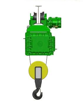 Серия MT, EN - тельфер электрический взрывозащищенный канатный передвижной
