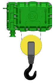 Серия ВТ02, ВT35- тельфер электрический взрывозащищенный канатный стационраный в исполненнии на лапах