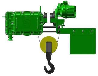 Серия ВТ45, ВT78 - тельфер электрический взрывозащищенный канатный передвижной в исполнении с уменьшенной строительной высотой