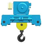 Серия MT, ED - тельфер электрический канатный передвижной в исполнении крановой тележки