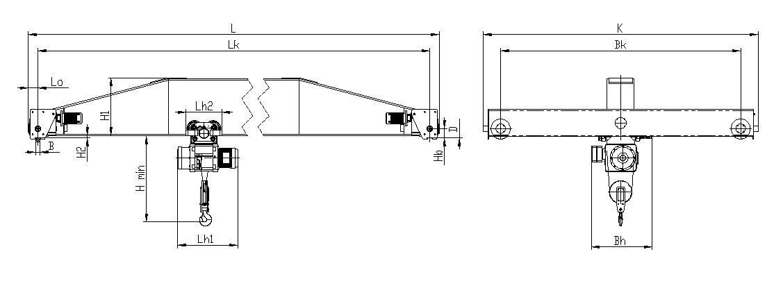 Кран мостовой электрический